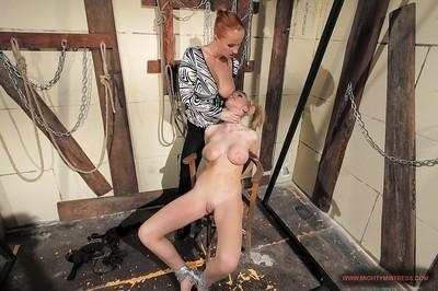 Lusty babes Natasha Brill & Katy Parker are into hardcore femdom action