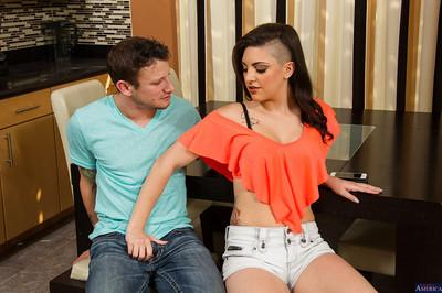 Milf brunette Rachael Madori was drilled in her nice face and puss