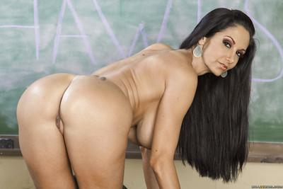 European brunette babe Ava is a busty frisky actress with big talent