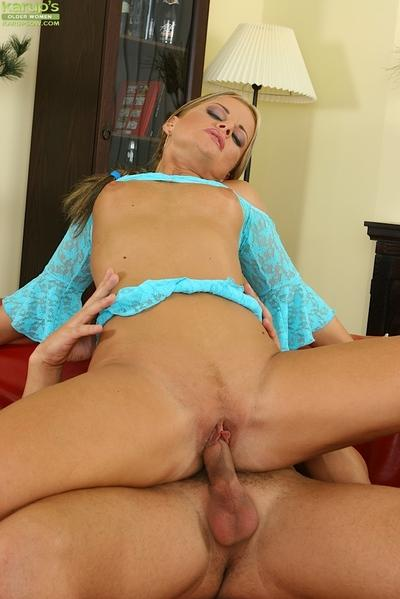 Lusty blonde MILF gets pounded tough and tastes some hot jizz