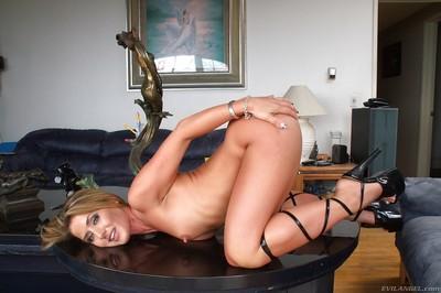 Sexy MILF on high heels Sheena Shaw showcasing her graceful body