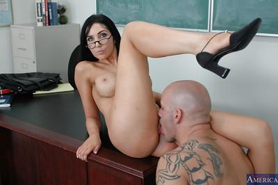 Stunning big tit teacher in glasses Diana is fucking her student
