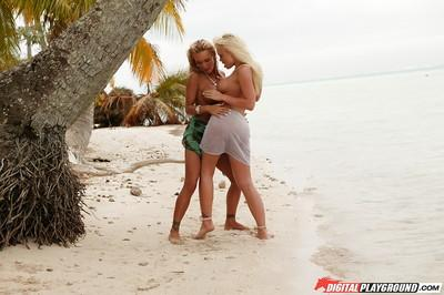 Lesbians Devon and Jesse Jane are licking each other hot pussies
