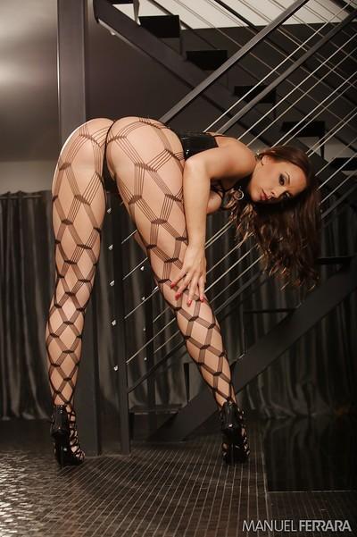 Busty pornstar Chanel Preston poses in very alluring lingerie