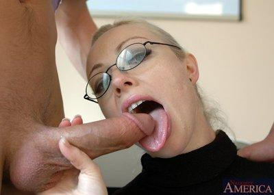 Busty MILF teacher in glasses Adrianna Nicole got her pussy stuffed