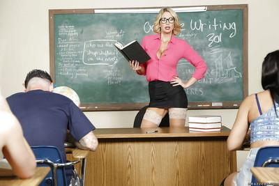 Slutty teacher milf with big boobies Leigh Darby fuck like a slut