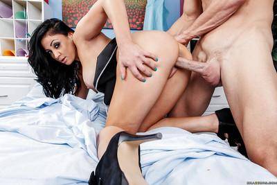 Voluptuous MILF Audrey Bitoni gets banged hardcore and facialized