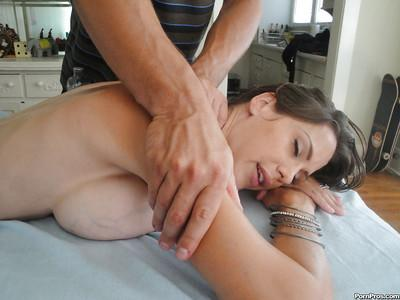 MILF babe McKenzie Lee gets a massage and has hot sex right after