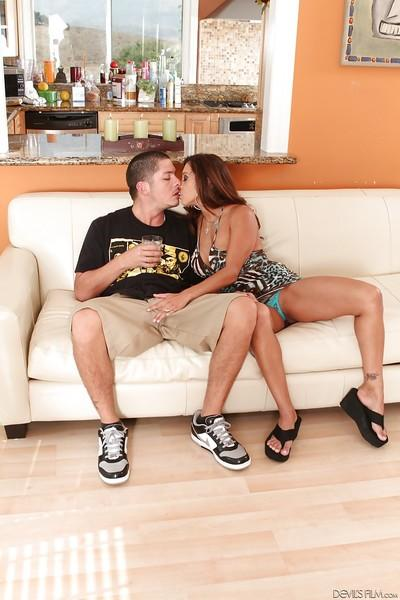 Francesca Le is pleasing a younger dude with a stunning blowjob