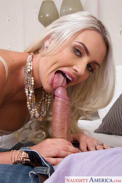 Blonde Milf wife Gigi Allens gets ass licked clean and sucks dick