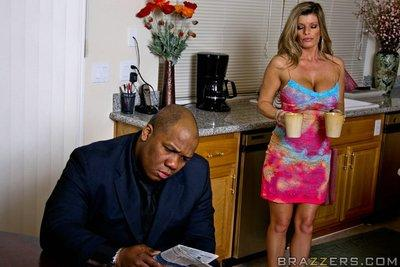 Sexy MILF wife with big tits Kristal Summers getting a massive dick