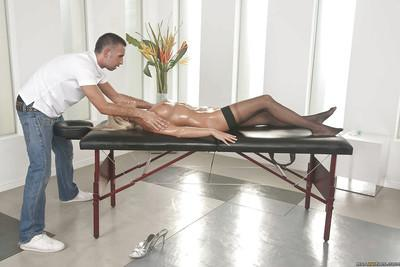 Pretty MILF Diana Doll gets banged hardcore on the massage table