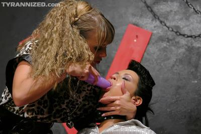 Hot MILFs Christina Lee & Carmen Black make some rough lesbian action