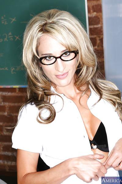 Sarah Jessie looking good as always in her teacher uniform here