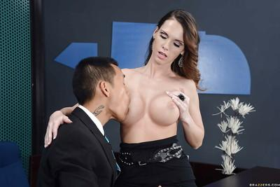 Jennifer Dark has some pussy licking and fucking fun with her office mate