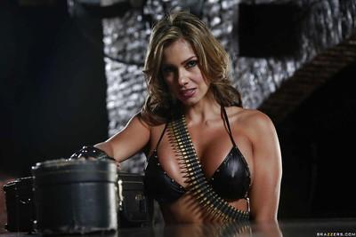 Latina milf pornstar Esperanza Gomez demonstrates her big tits while fucking