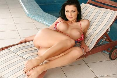 Beauty brunette Aletta Ocean is giving a nasty deep blowjob!