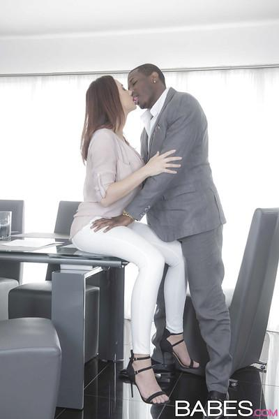 Busty babe Chanel Preston and black man hookup for hardcore interracial sex