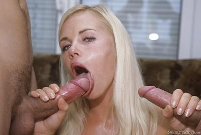 Young blonde chick Sandy Style having phat ass fondled outside 10 Downing