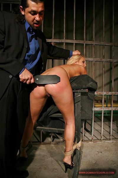 Blonde MILF babe Ginna Brigitta gets spanked and BDSM fucked hardcore