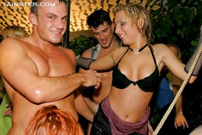Lecherous european gals have some hard fun at the wild groupsex party
