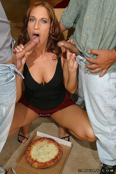 Agreeable milf Sophie Evans gets boffed by two awesome steeds