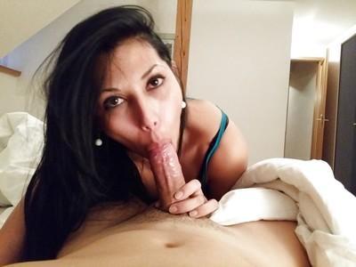Latina MILF Valentina Sweet gives hot POV blowjob before swallowing jizz