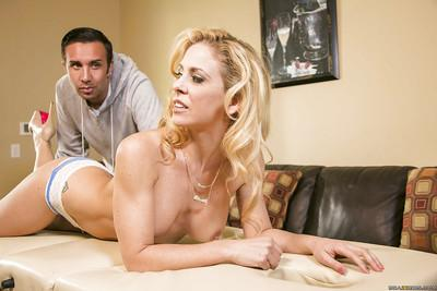 Lewd MILF Cherie Deville blows and fucks her naughty masseur