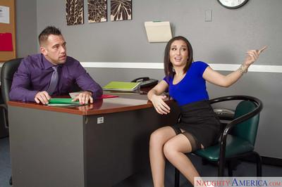 Milf Gabriella Paltrova was fucked in her head right in the office