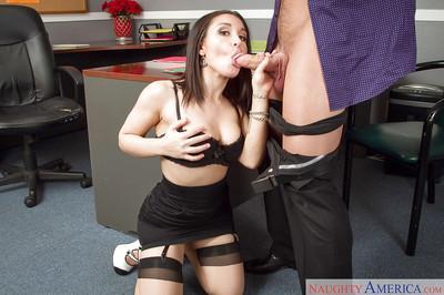 Milf Gabriella Paltrova was fucked in her head right in the office