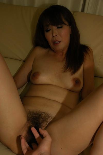 Horny asian MILF Kayo Mukai gets her unshaven cunt vibed and cocked up