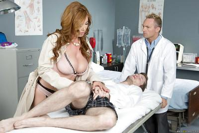 Milf nurse Eva Notty is fucked by Kianna Dior and their doctor