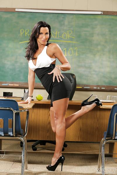 Hot MILF Lezley Zen is the busty school teacher that wet dreams are made of