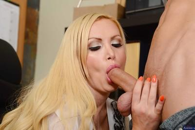 Office blonde Nikki Benz was drilled by coworker after hard day