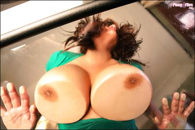 Buxom MILF Monica Mendez lets her huge hooters ring in the new year
