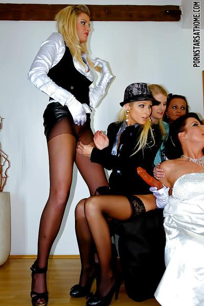 Smoking hot gals are into wild lesbian bachelorette party