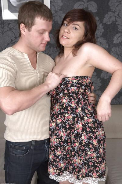 Jessy has her chubby body worshiped and fucked from behind hard