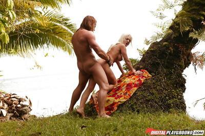 Milf blonde Jesse Jane is banging in hardcore mode in front ocean