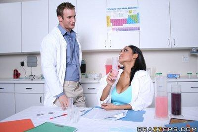 Indian MILF Priya Anjeli Rai strips off uniform to fuck in the office