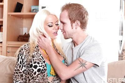 Blonde MILF pornstar Nikita Von James receiving hardcore fucking