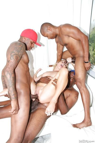 Hardcore black guys are drilling Aria Austin in a hot interracial vid