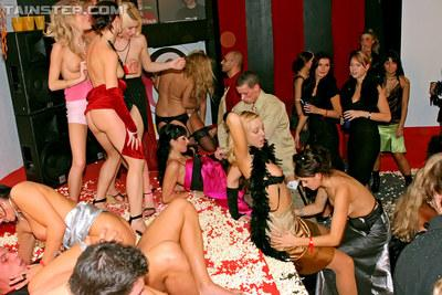 Lecherous european MILF enjoy a wild sex orgy at the glamorous party