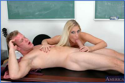 Stunning MILF teacher Devon Lee gets her shaved pussy drilled hardcore