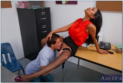 Slutty teacher Priya Anjali Rai gets banged by a horny student