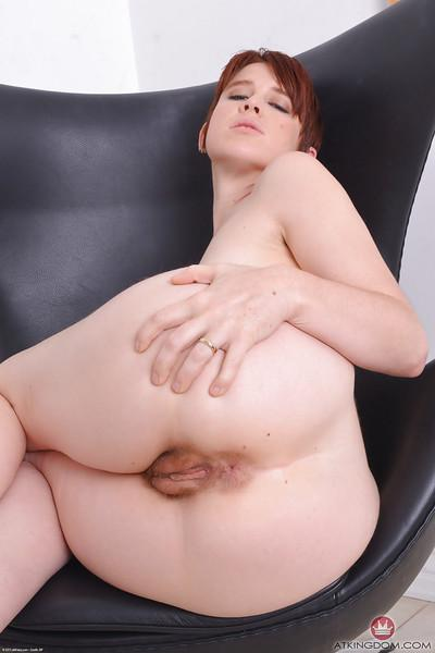 Leggy redhead MILF Lily Cade baring ass for spreading of hairy cooter