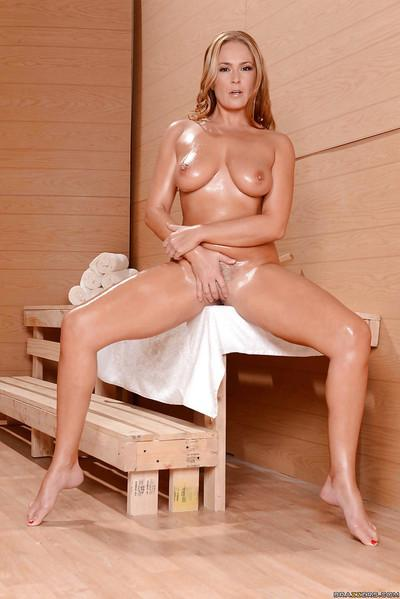 Sexy big-tit milf Elexis Monroe demonstrates her amazing vagina