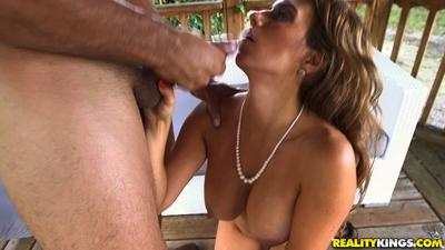 Euro mom Mia Ryder rides cock cowgirl style complete with cowboy hat