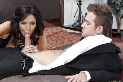 Fake tit Latina MILF Tara Holiday enjoying a big meaty cock up her cunt