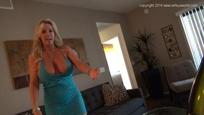 Perfect housewife Sandra Otterson with big melons and hot figure