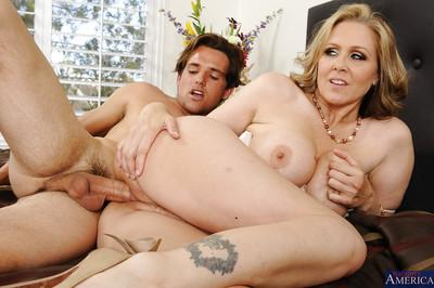 Big tit blonde milf Julia wants to eat that cock and to be fucked